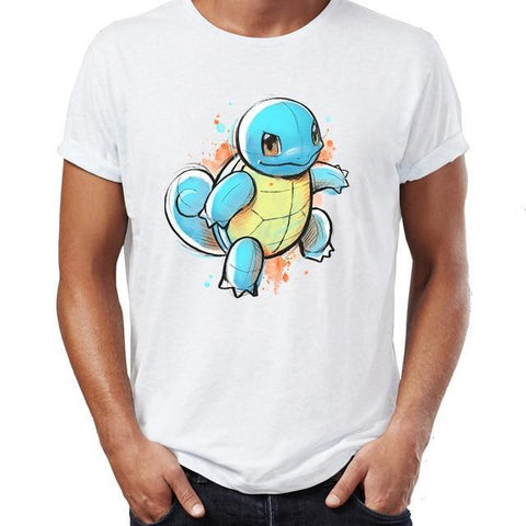Pokemon shirt of squirtle in a painting design