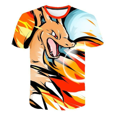 Pokemon charizard shirt