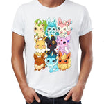 Pokemon shirt all of the Eeveelution in a kawaii design