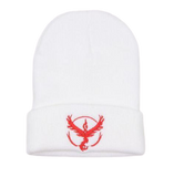 white Pokemon go valor beanie up view