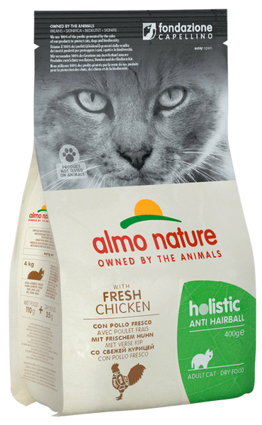 Almo Nature Holistic Chats Adultes AntiHairball - Poulet