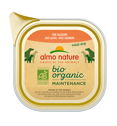 Almo Nature BIO organic Chiens Maintenance - barquette - saumon