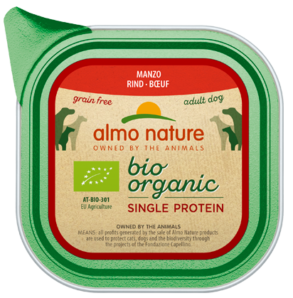 Almo Nature BIO organic Chiens Single Protein - barquette - bœuf (150 gr)
