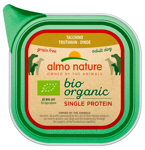 Almo Nature BIO organic Chiens Single Protein - barquette - dinde (150 gr)