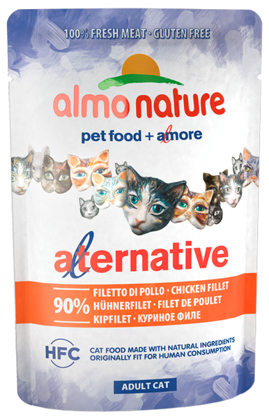 Almo Nature HFC Alternative Chats - pochette - filet de poulet (55 gr)