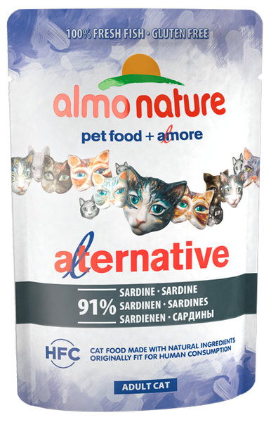 Almo Nature HFC Alternative Chats - pochette - sardines (55 gr)