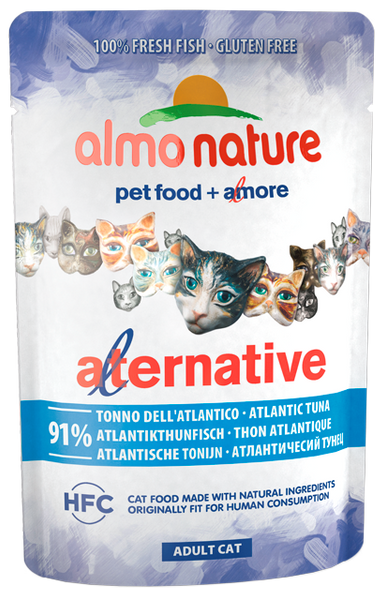 Almo Nature HFC Alternative Chats - pochette - thon de l'Atlantique (55 gr)