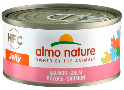 Almo Nature HFC Jelly Chats - boîte - saumon (70 gr)