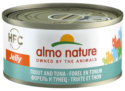 Almo Nature HFC Jelly Chats - boîte - truite et thon (70 gr)