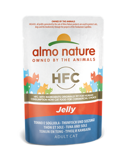 Almo Nature HFC Jelly Chats - pochette - thon et sole (55 gr)