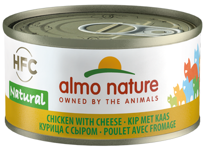 Almo Nature HFC Natural Chats - boîte - poulet avec fromage (70 gr)
