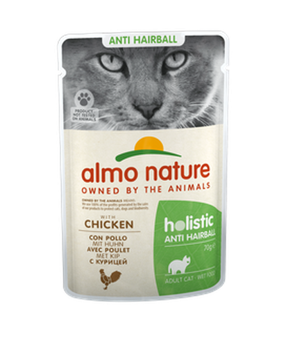 Almo Nature Holistic Chats Antihairball - pochette - poulet (70 gr)