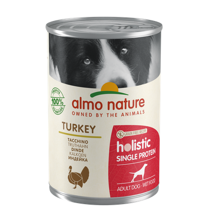 Almo Nature Holistic Chiens Single Protein - boîte - dinde (400 gr)