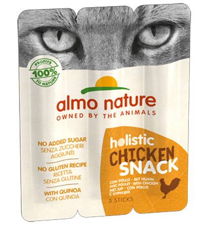 Almo Nature Holistic Snack Chats - poulet (3 x 5 gr)