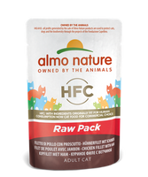 Almo Nature Raw Pack Chats - pochette - filet de poulet avec jambon (55 gr)
