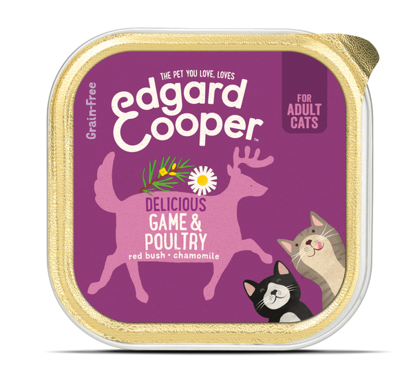 Edgard & Cooper barquette pour chats adultes - gibier (85 gr)