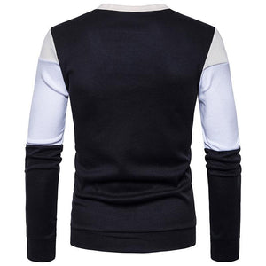Men's Casual Colorblock Single Breasted Knit Cardigan