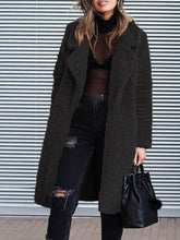 Load image into Gallery viewer, Loose Fit Long Sleeve Notched Lapel Women's Winter Overcoat