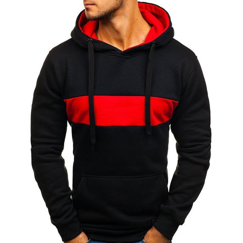 Sports Color Matching Casual Street Versatile Hoodie