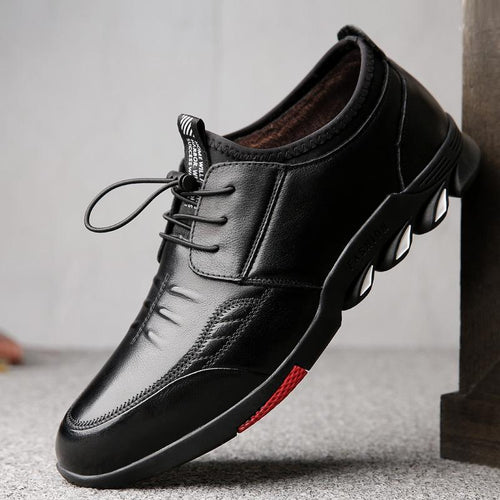 New Plus Velvet Thick Casual Men's Leather Shoes