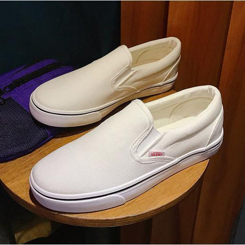 Big Size Round Toe  Loafers Flats Women Casual Slip on Flat Canvas Shoes