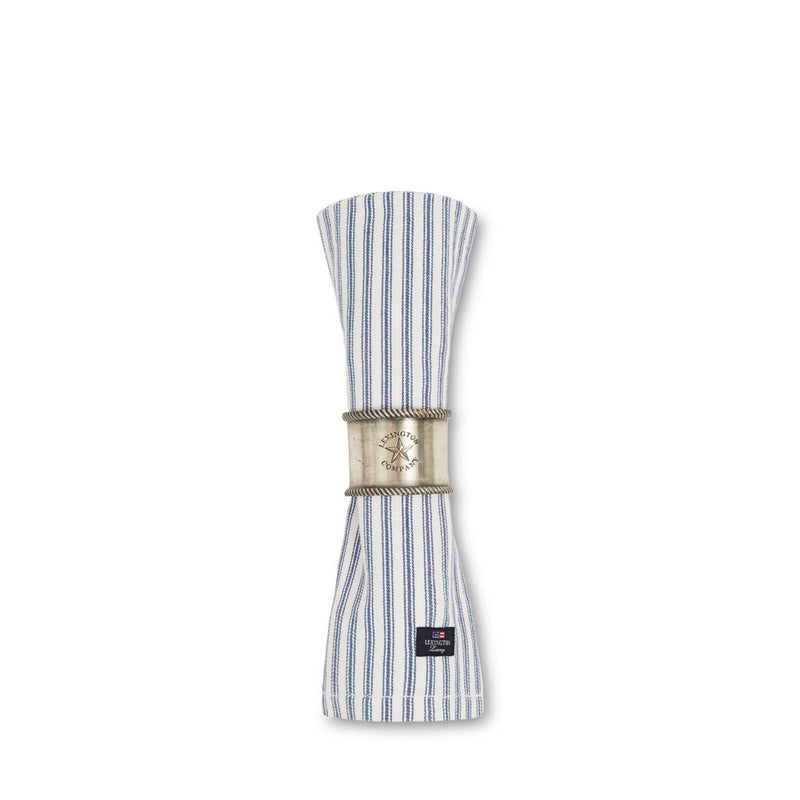 Lexington Icons Cotton Herringbone Striped Napkin