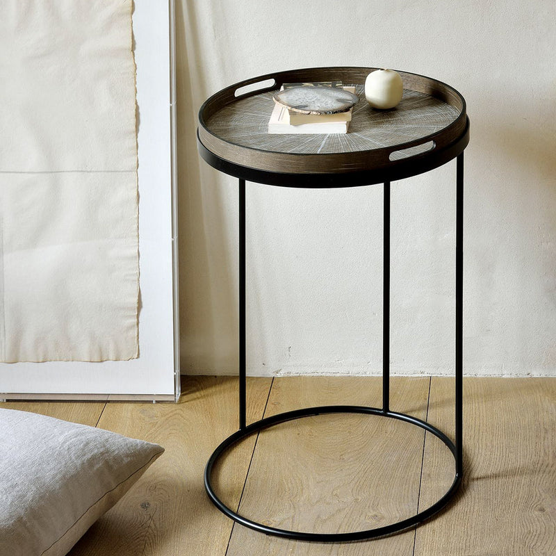 Ethnicraft Round Tray Side Table