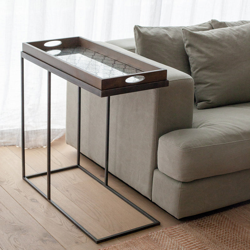 Ethnicraft Rectangle Tray Side Table