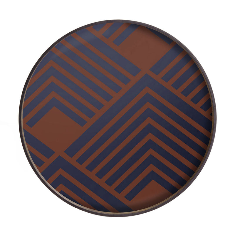 Ethnicraft URBAN GEOMETRIC CHEVRON Midnight Tablett