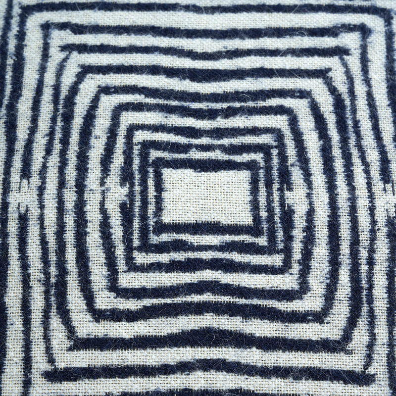 Ethnicraft FALL Linear Square Kissen - Blau