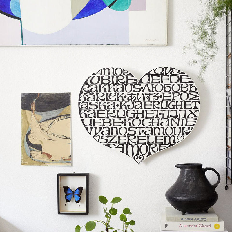 Vitra Accessoires Metal Wall Relief International Love Heart