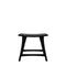 Ethnicraft Osso Stool Oak Black