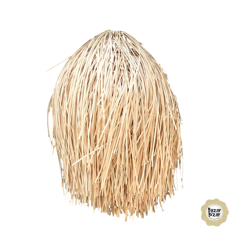 Story Bazar Bizar Lighting The Rattan Shaggy Pendant – Natural - L