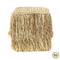 Bazar Bizar THE RAFFIA Shaggy Hocker - Quadratisch