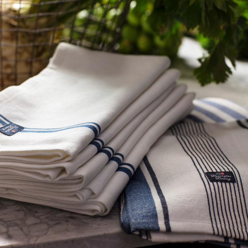 Lexington Fall Cotton Twill Napkin With Stripes