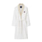 Lexington Fall Cotton Velour Contrast Robe - White/Light Beige