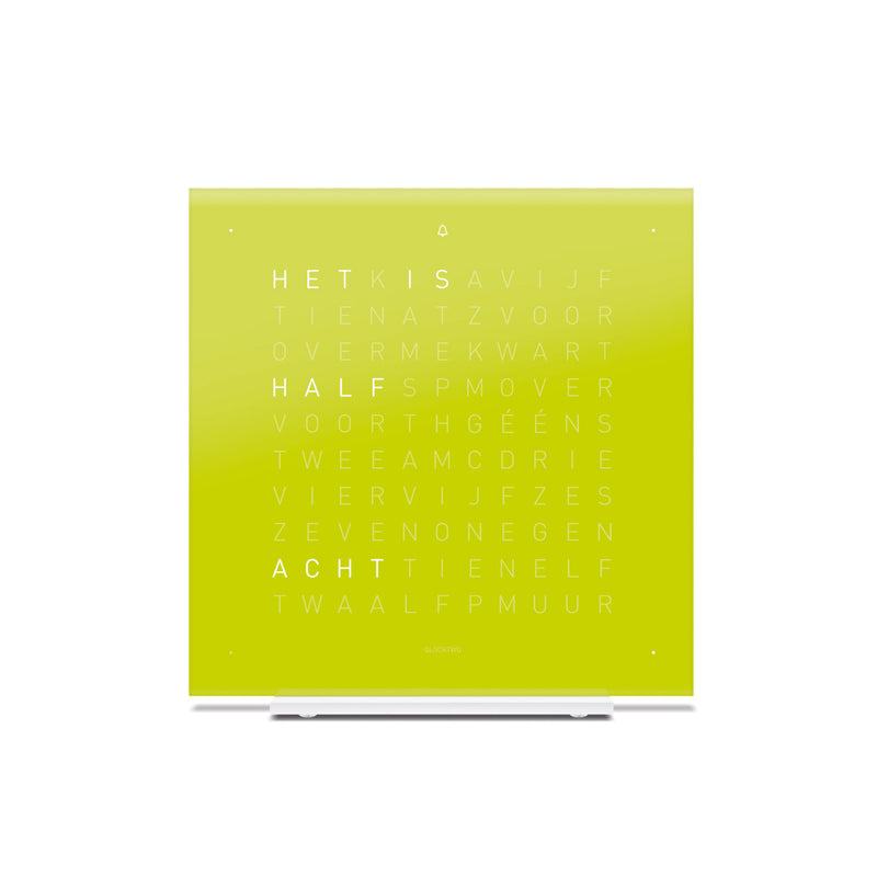 Qlocktwo Tischuhr Touch Pure Lime Juice