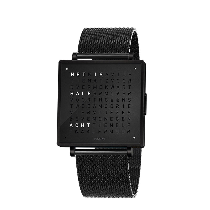 Qlocktwo Montre W39 Black Steel