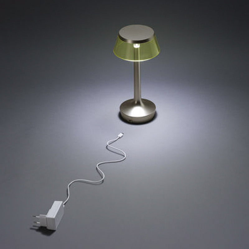 Flos BON JOUR Unplugged Tischlampe - Chrome Fabric