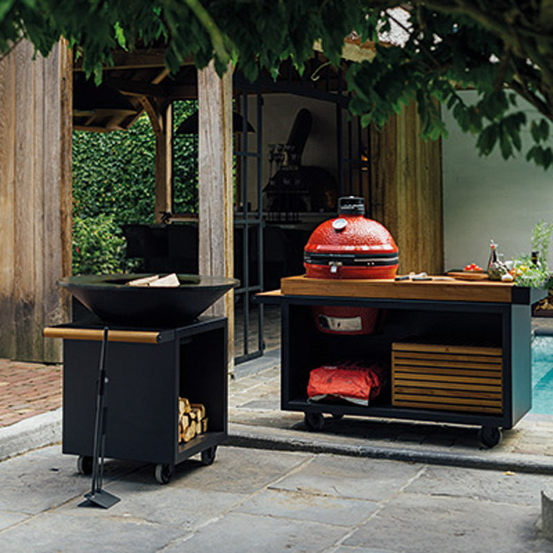 Ofyr Kamado Table Black 135 Pro Bois Teck KJ