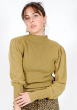 Load image into Gallery viewer, Gianna Ribbed Mock Neck Top in Fern