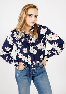 De La Soul Ruffle Top in Daisy
