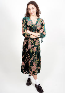 Jojo Dress in Cherry Blossom/Hunter Green
