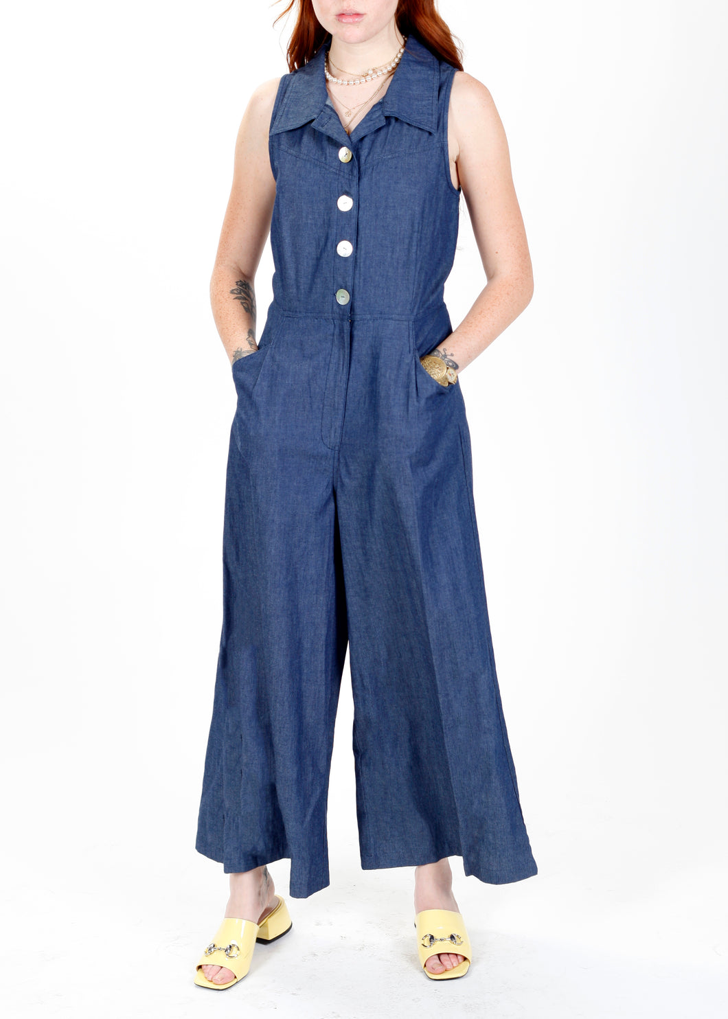 Jo Jumpsuit in Chambray