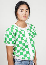 Load image into Gallery viewer, Graham Cardigan Top in Fast Times Green