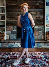 Load image into Gallery viewer, Jo Dress in Chambray