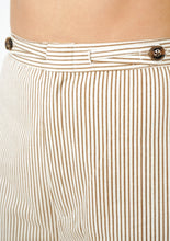 Load image into Gallery viewer, Spencer Pant in Mocha Pinstripe