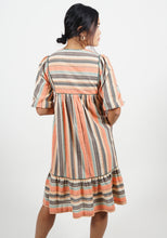 Load image into Gallery viewer, Pollyjean Dress in Monaco Stripe