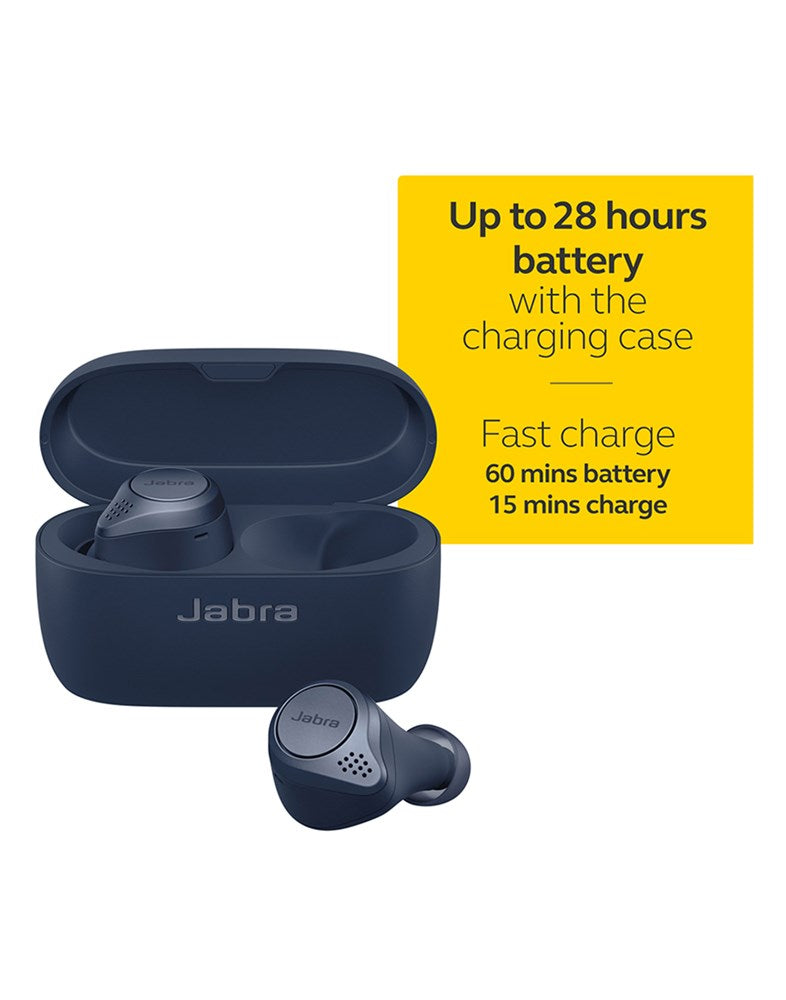 Jabra Elite Active 75T True Wireless Active Noise Cancelling (ANC) Bluetooth Earbuds, Long Battery Life For Calls and Music, Voice Assistant Enabled (Brand New) (5787173879969)