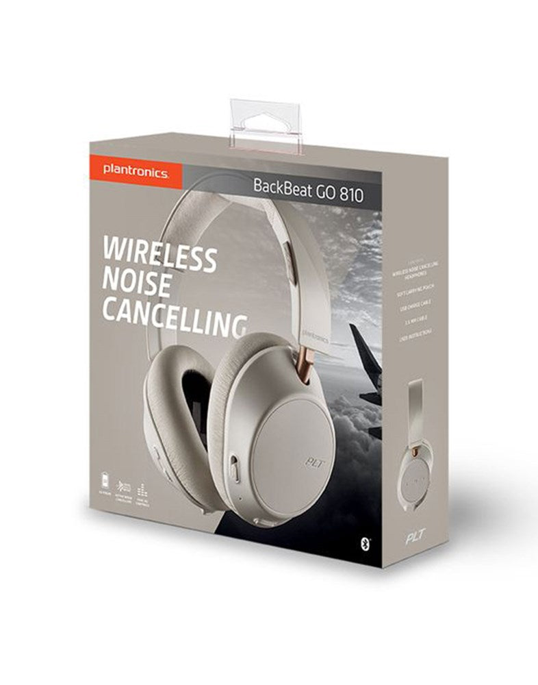Plantronics BackBeat GO 810 Wireless Active Noise Canceling Over Ear Headphones (Brand New)